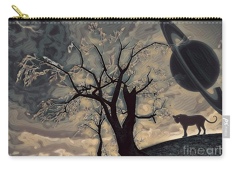 Cat Carry-all Pouch featuring the digital art The Panther Guide by Robert Radmore