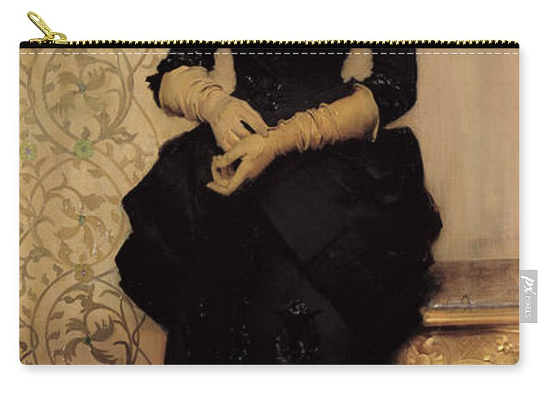 The Carry-all Pouch featuring the painting The Parisian by Charles Giron
