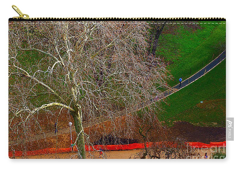 Landscape Carry-all Pouch featuring the photograph The Parc Des Buttes-chaumont # 1. by Alexander Vinogradov