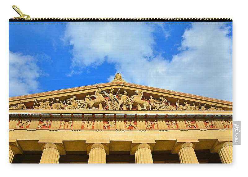 The Parthenon In Nashville Tennessee 2 Carry-all Pouch featuring the photograph The Parthenon In Nashville Tennessee 2 by Lisa Wooten