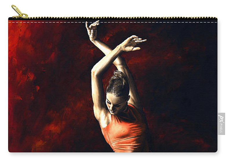 Dancer Carry-all Pouch featuring the painting The Passion Of Dance by Richard Young