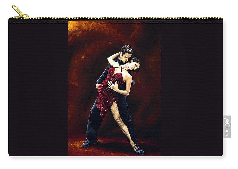 Tango Carry-all Pouch featuring the painting The Passion of Tango by Richard Young
