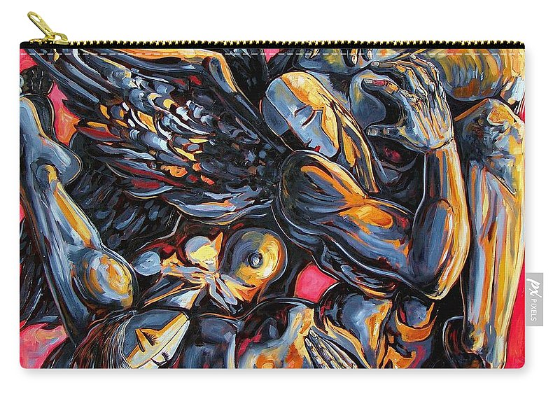 Surrealism Carry-all Pouch featuring the painting The Passion Of The Fallen by Darwin Leon