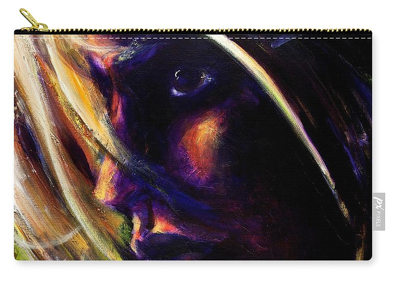 Acrylic Carry-all Pouch featuring the painting The Past Is Gone by Jason Reinhardt