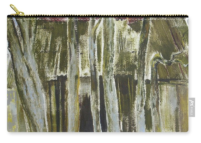 Oil Carry-all Pouch featuring the painting The Past Space by Sergey Ignatenko