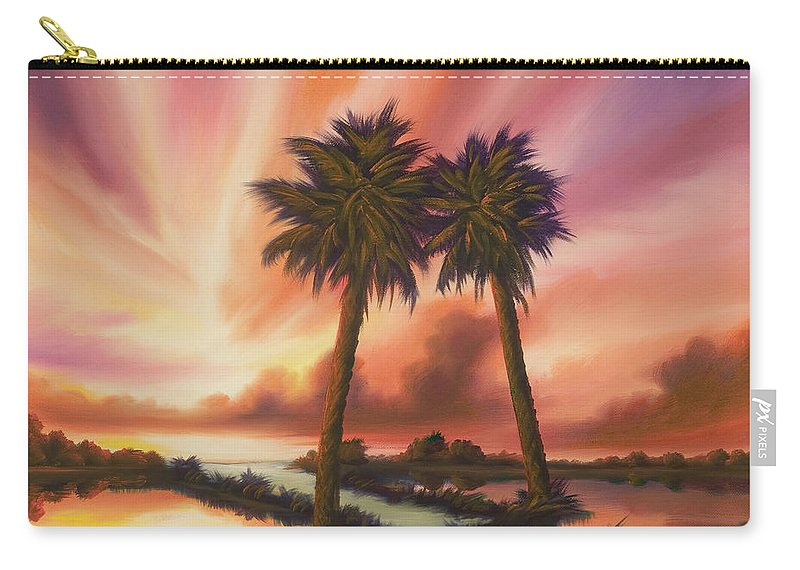 Skyscape Carry-all Pouch featuring the painting The Path Ahead by James Christopher Hill
