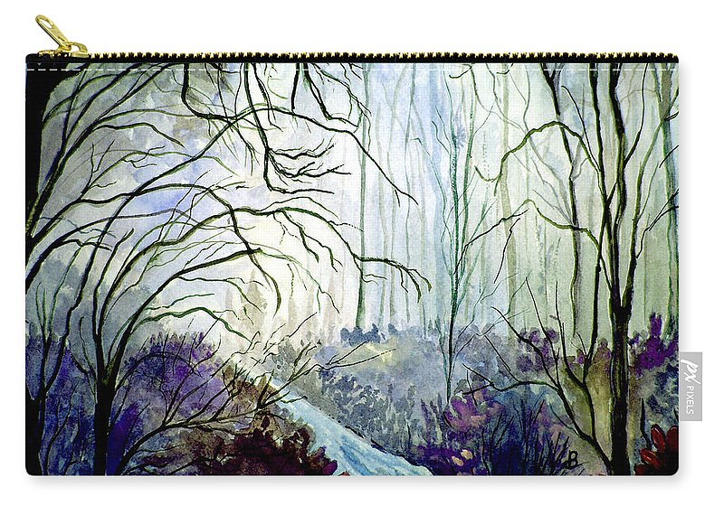 Watercolor Carry-all Pouch featuring the painting The Path by Brenda Owen