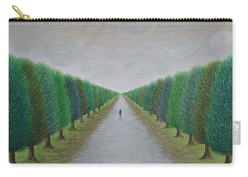 Path Carry-all Pouch featuring the painting The Path by Lynet McDonald