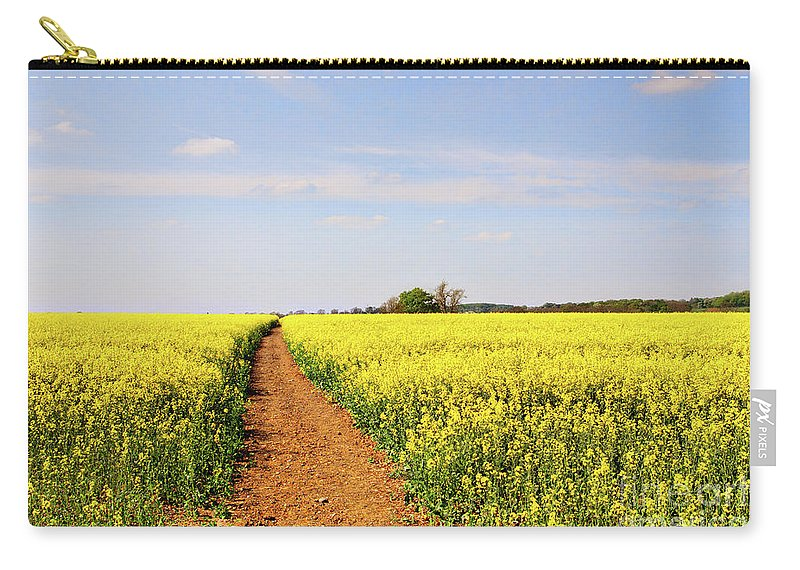 Canola Carry-all Pouch featuring the photograph The Path To Bosworth Field by John Edwards