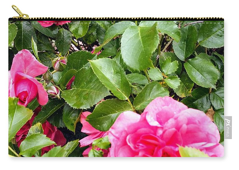 Botanical Flower's Nature Carry-all Pouch featuring the photograph The peaceful place 10 by Valerie Josi