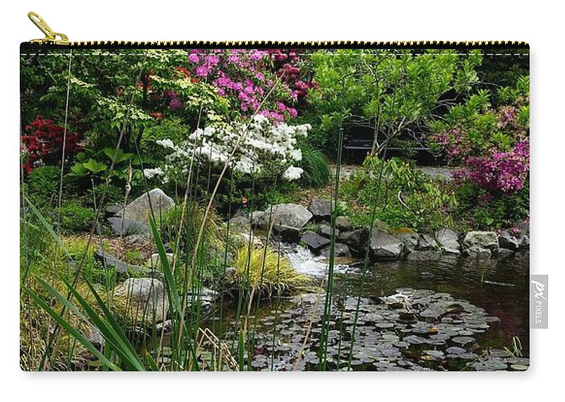 Botanical Flower's Nature Carry-all Pouch featuring the photograph The peaceful place 13 by Valerie Josi