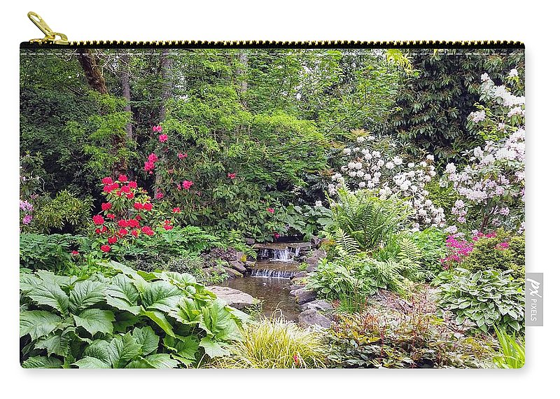 Botanical Floral Nature Carry-all Pouch featuring the photograph The peaceful place 2 by Valerie Josi