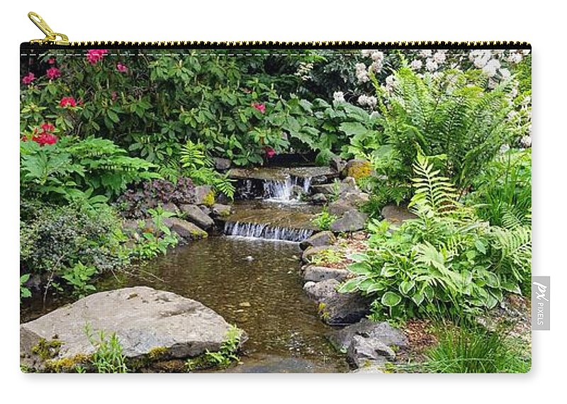 Botanical Floral Nature Carry-all Pouch featuring the photograph The peaceful place 3 by Valerie Josi