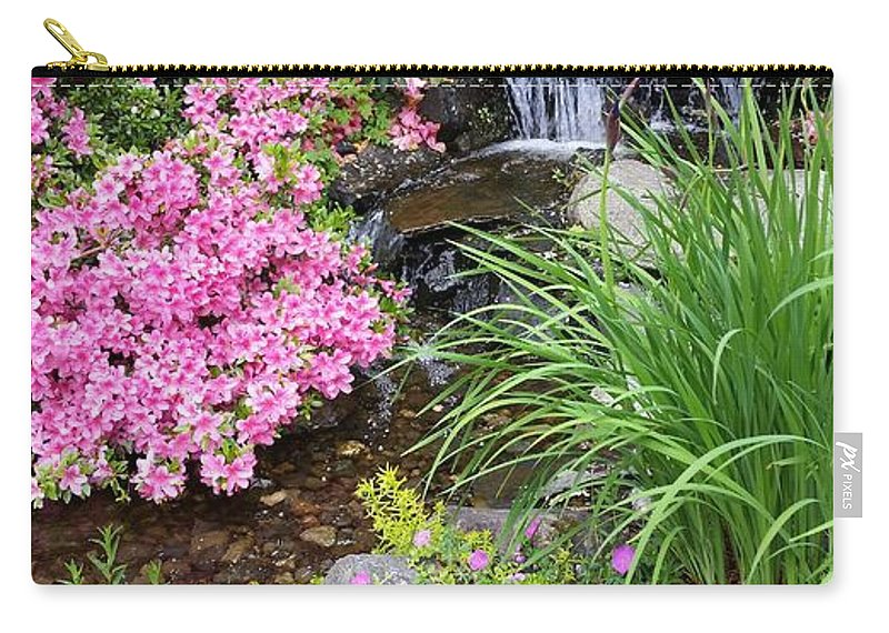 Garden Carry-all Pouch featuring the photograph The peaceful place by Valerie Josi