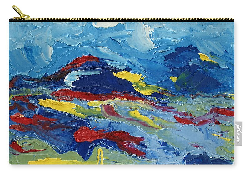 Abstract Carry-all Pouch featuring the painting The Peak by Christopher O'Kelley