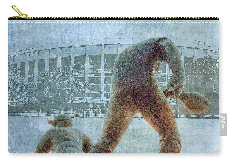 Phillies Carry-all Pouch featuring the photograph The Phillies At Veterans Stadium by Bill Cannon