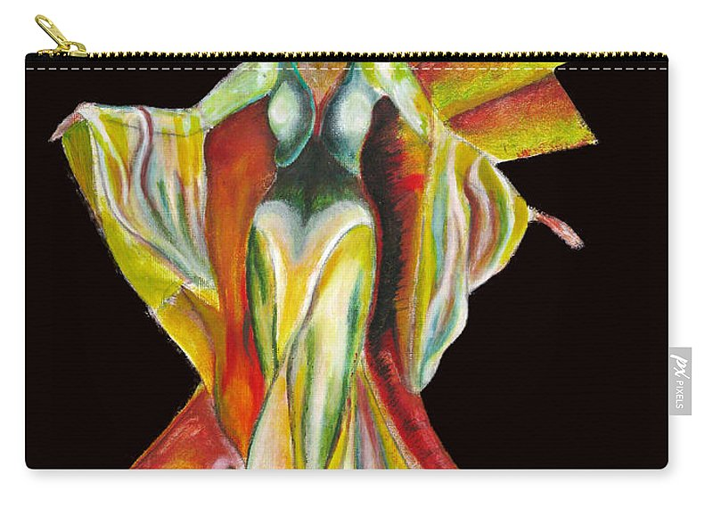 Dresses Carry-all Pouch featuring the painting The Phoenix 2 by Tom Conway