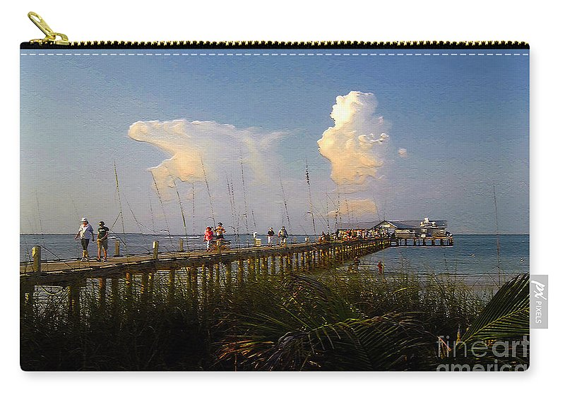 Pier Carry-all Pouch featuring the photograph The Pier On Anna Maria Island by David Lee Thompson