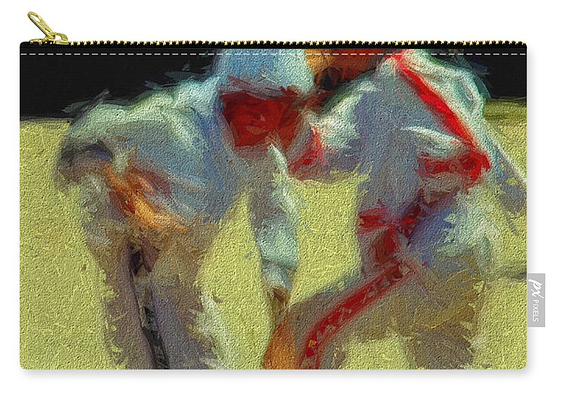 Carry-all Pouch featuring the digital art The Players by Cathy Anderson