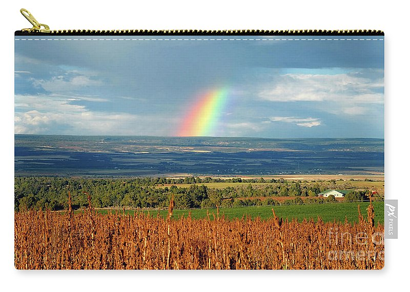 Pleasant View Colorado Carry-all Pouch featuring the photograph The Pleasant View Rainbow by David Lee Thompson