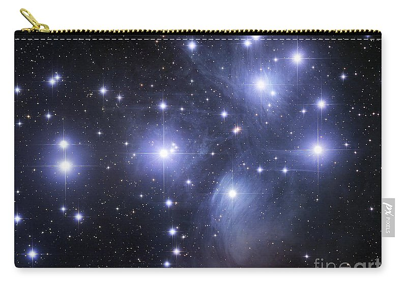Astronomy Carry-all Pouch featuring the photograph The Pleiades by Robert Gendler