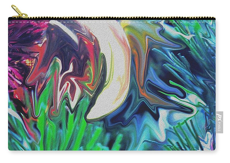 Abstract Carry-all Pouch featuring the digital art The Pond by Ian MacDonald