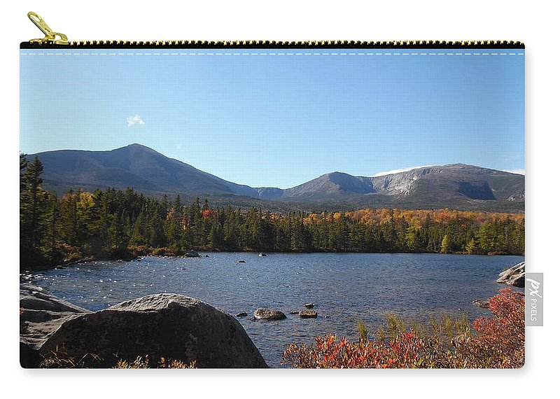 Katahdin Mountain Carry-all Pouch featuring the photograph The Pond by Julie Houle
