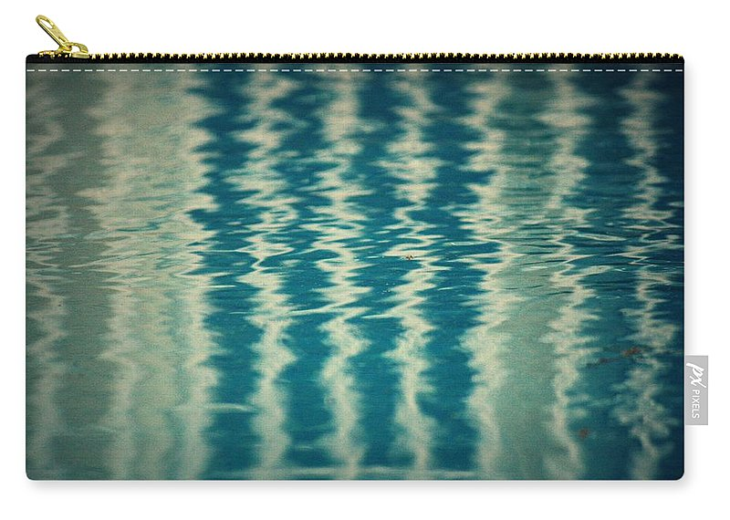 Pool Carry-all Pouch featuring the photograph The Pool Party by Mandy Shupp