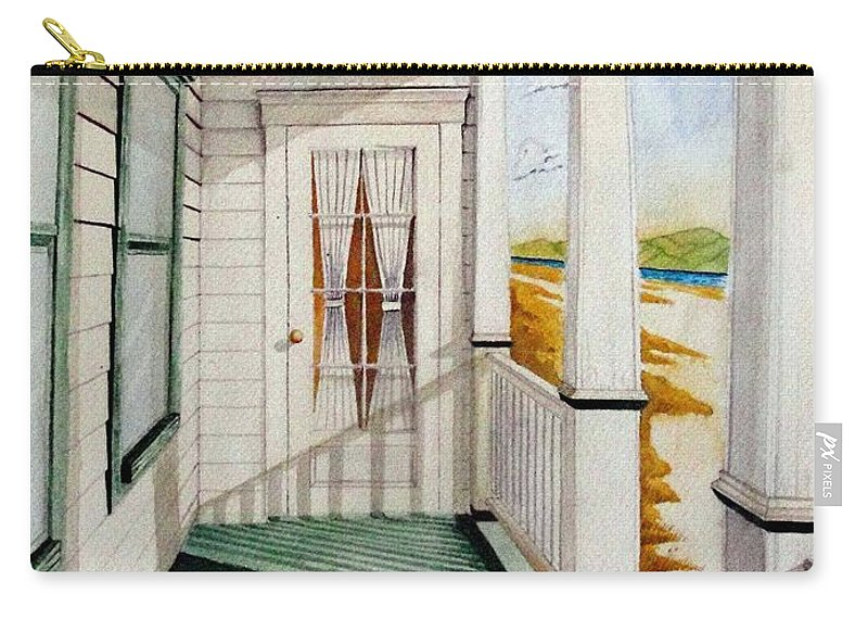 Art Carry-all Pouch featuring the painting The Porch by Jimmy Smith