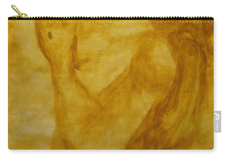 Gloria Ssali Carry-all Pouch featuring the painting The Potter by Gloria Ssali