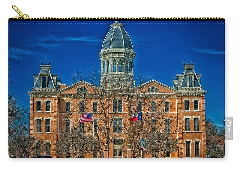 Presidio County Carry-all Pouch featuring the photograph The Presidio County Courthouse by Mountain Dreams
