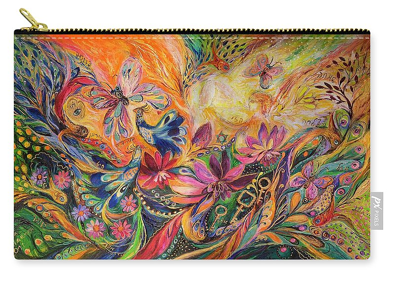 Original Carry-all Pouch featuring the painting The Prince Of Dawn by Elena Kotliarker