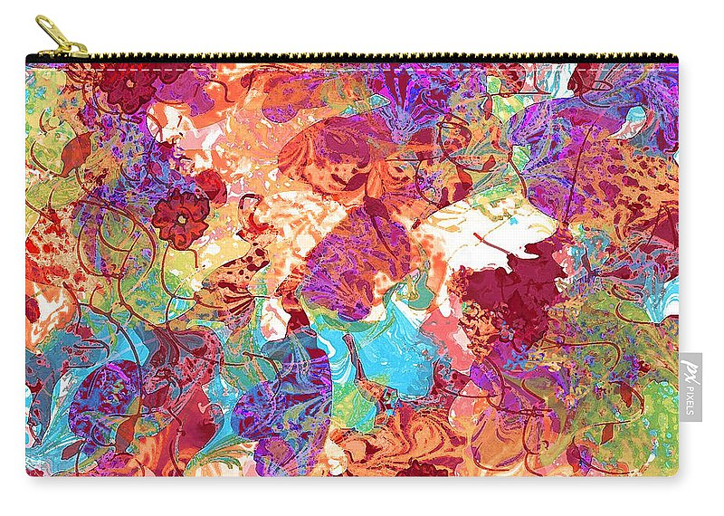 Abstract Carry-all Pouch featuring the digital art The Princess Dream by Rachel Christine Nowicki