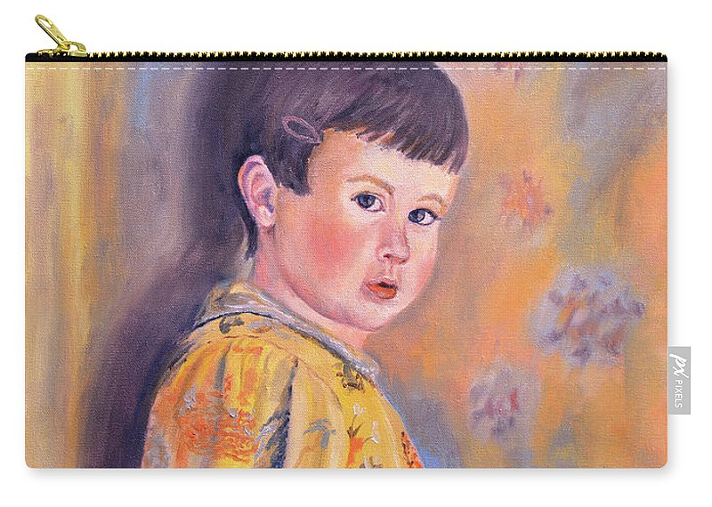 Impressionism Carry-all Pouch featuring the painting The Print Dress by Keith Burgess