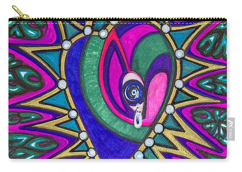 Heart Carry-all Pouch featuring the painting The Private Eye by Laurel Rosenberg