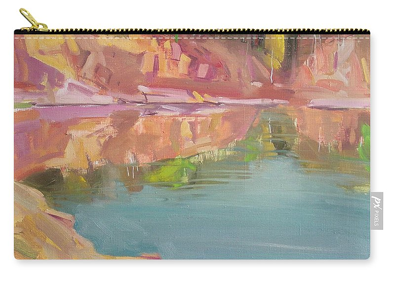 Oil Carry-all Pouch featuring the painting The Quarry by Sergey Ignatenko