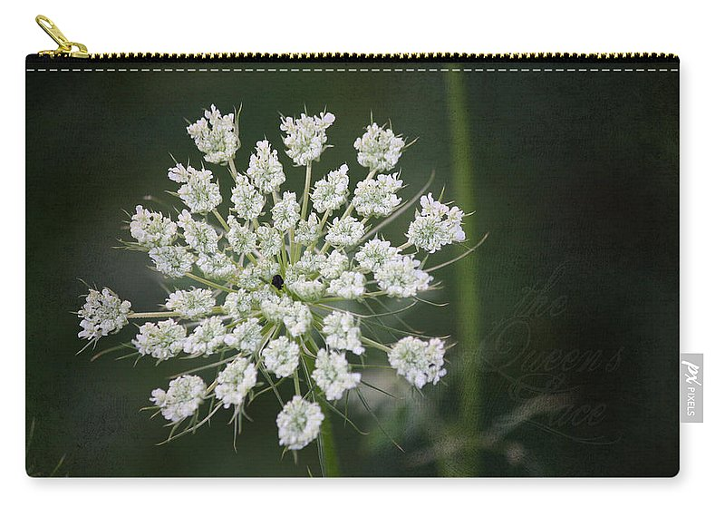 Queen Anne's Lace Carry-all Pouch featuring the photograph The Queens Lace by Teresa Mucha