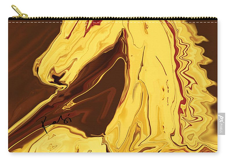 Brown Carry-all Pouch featuring the digital art The Race by Rabi Khan