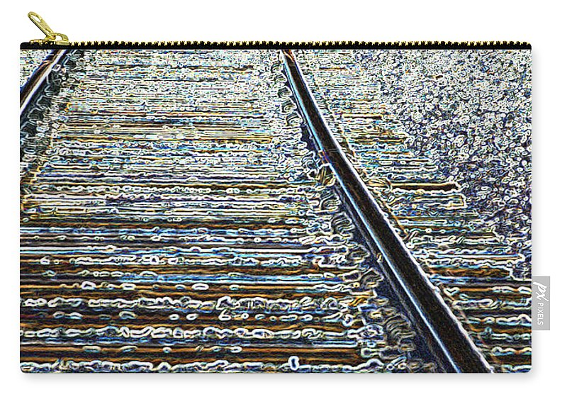 Rail Carry-all Pouch featuring the photograph The Rails Edge by Tim Allen