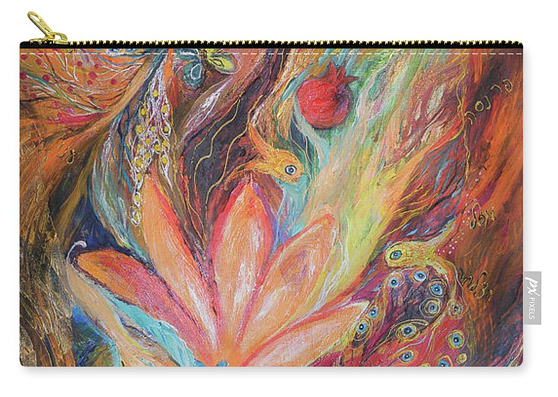 Original Carry-all Pouch featuring the painting The Rainbow's Daughter by Elena Kotliarker
