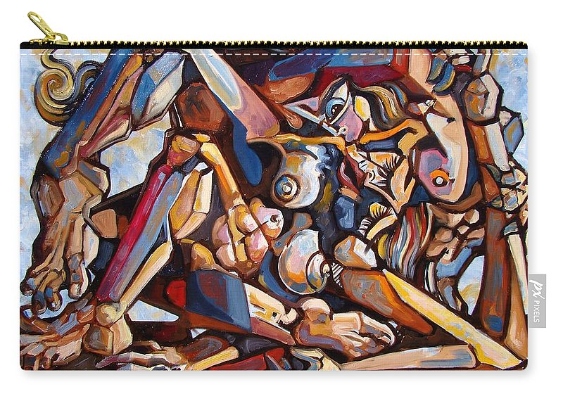 Surrealism Carry-all Pouch featuring the painting The Rape by Darwin Leon