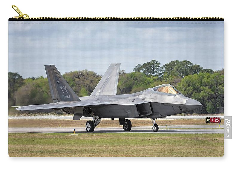 2017 Carry-all Pouch featuring the photograph The Raptor Returns - 2017 Christopher Buff, Www.aviationbuff.com by Chris Buff