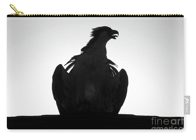 Raptor Carry-all Pouch featuring the photograph The Raptors Call by David Lee Thompson