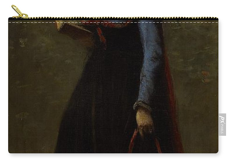 Corot Carry-all Pouch featuring the painting The Reader by Jean Baptiste Camille Corot