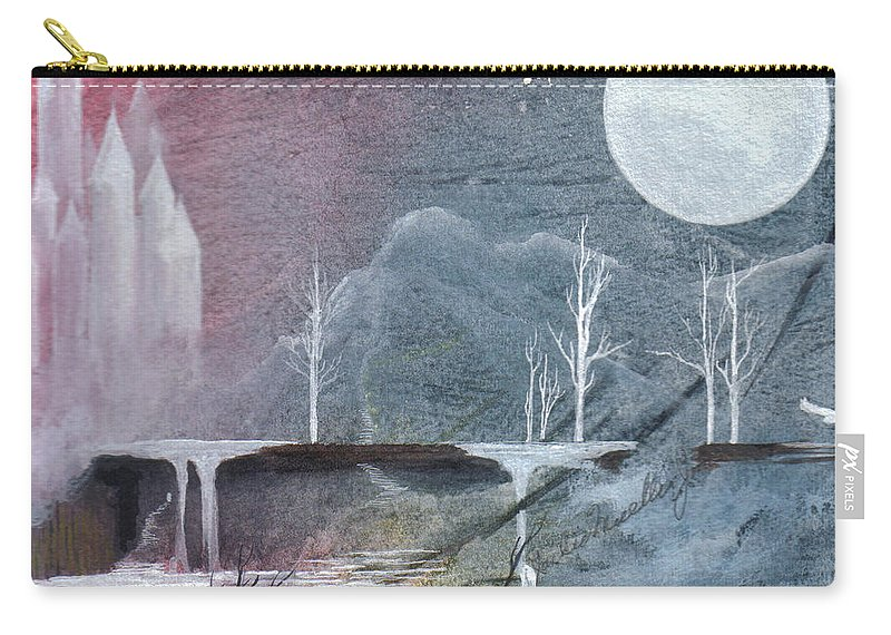 Castle Carry-all Pouch featuring the painting The Realm of Queen Astrid by Jackie Mueller-Jones