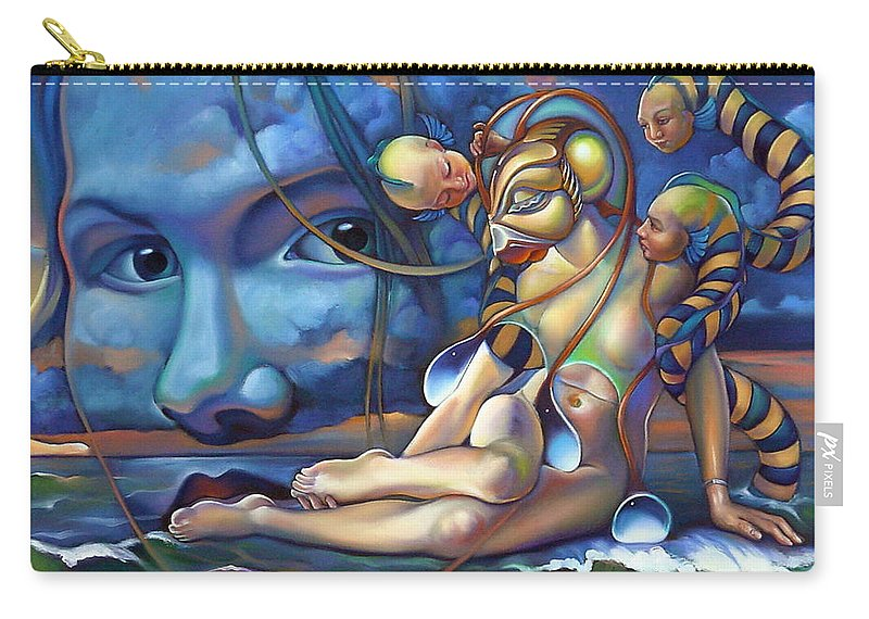 Mermaid Carry-all Pouch featuring the painting The Rebirth Of Venus by Patrick Anthony Pierson