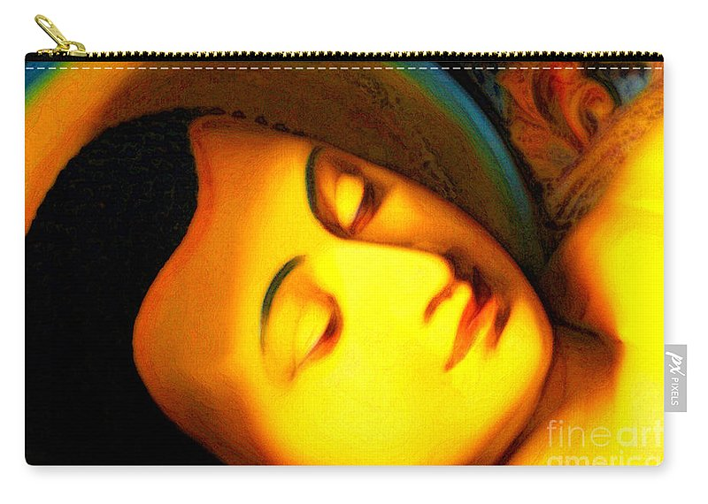 Digital Carry-all Pouch featuring the photograph The Recining Buddha by White Stork Gallery
