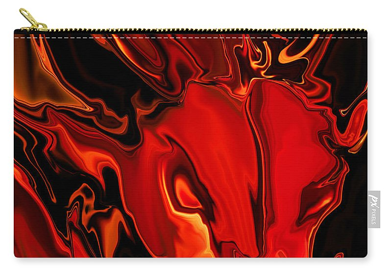 Animals Carry-all Pouch featuring the digital art The Red Bull by Rabi Khan