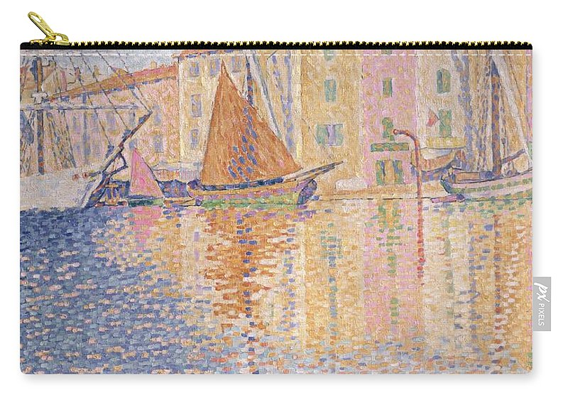 The Red Buoy Carry-all Pouch featuring the painting The Red Buoy by Paul Signac