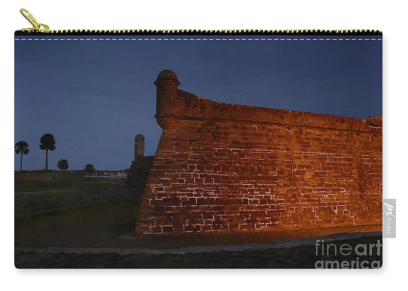 Castillo Carry-all Pouch featuring the photograph The Red Castillo by David Lee Thompson